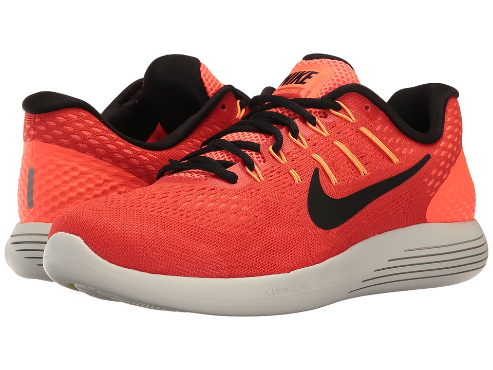 Nike - Lunarglide 8 (Max Orange/Black/Hyper Orange) Men's Running Shoes