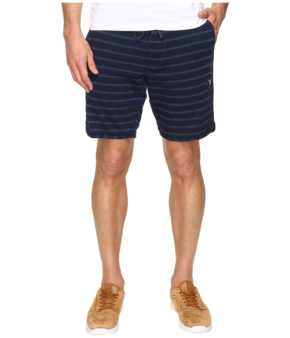 VISSLA - Sofa Surfer Fine Point Fleece Shorts (Dark Navy) Men's Shorts