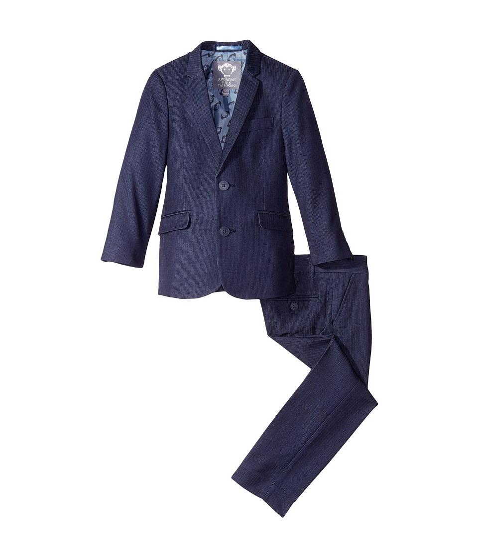 Appaman Kids - Mod Suit (Toddler/Little Kids/Big Kids) (Navy Herringbone) Boy's Suits Sets