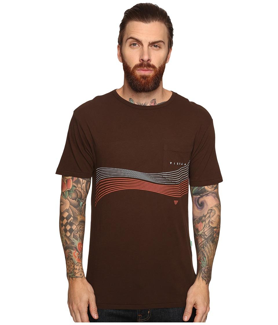 VISSLA - Double Vision Vintage Wash Short Sleeve Pocket Tee (Java) Men's T Shirt