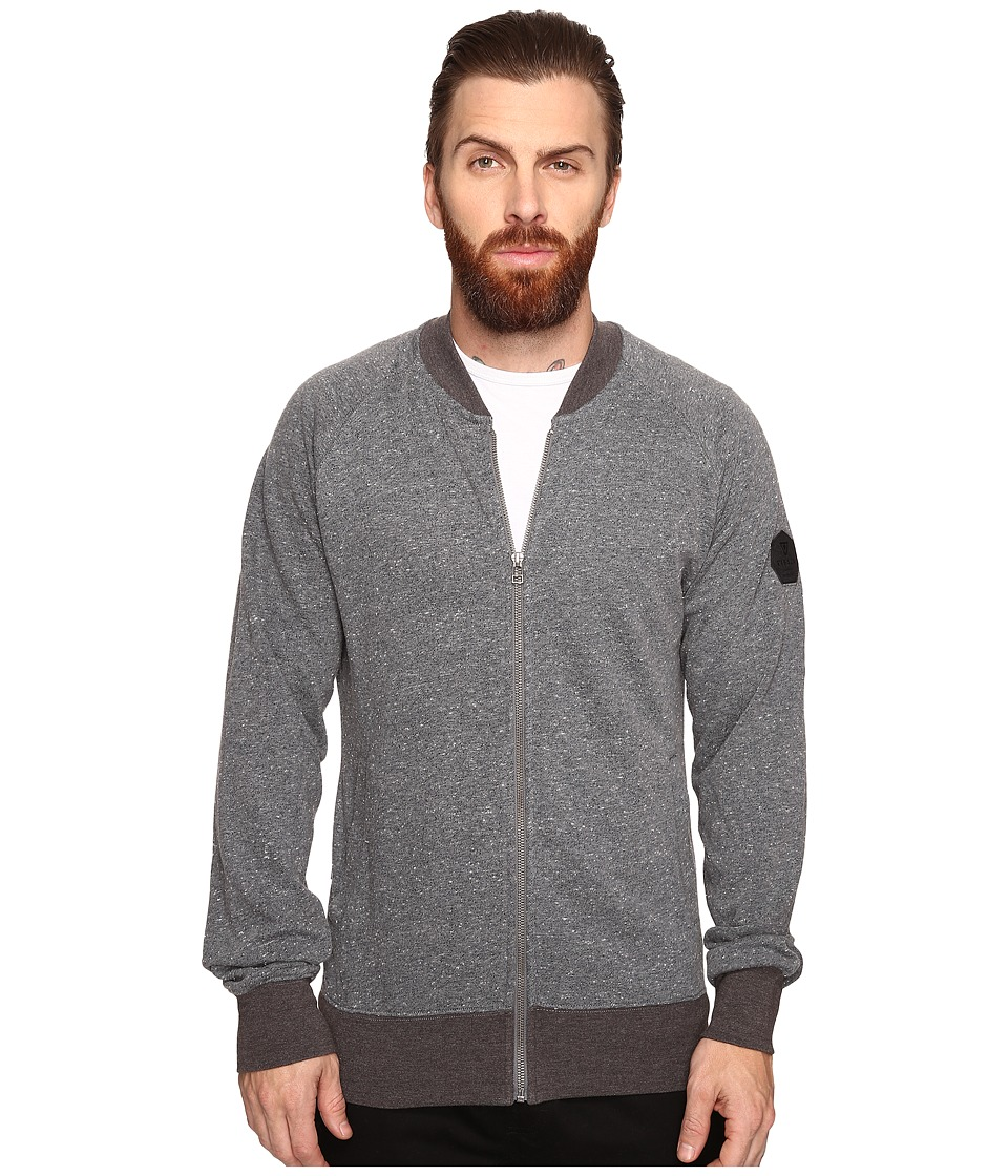 VISSLA - Devils Horn Zip Crew Fleece (Gunmetal) Men's Fleece