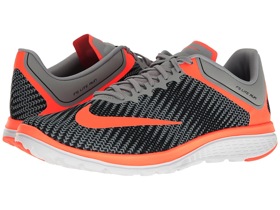 Nike - FS Lite Run 4 Premium (Wolf Grey/Hyper Orange/Anthracite/White) Men's Running Shoes