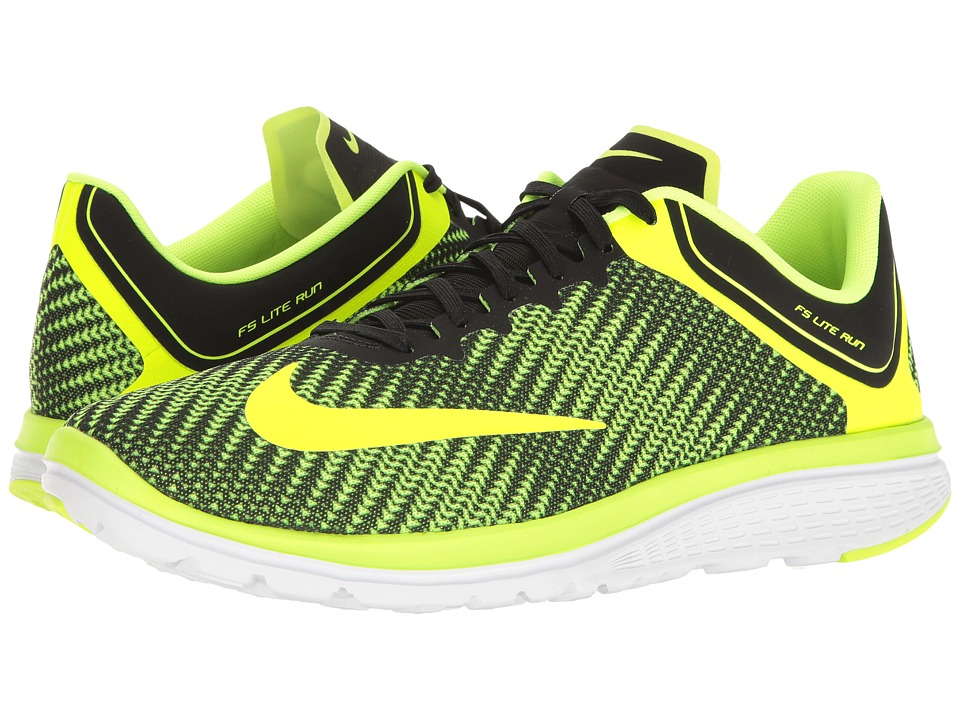 Nike - FS Lite Run 4 Premium (Volt/Volt/Black/White) Men's Running Shoes
