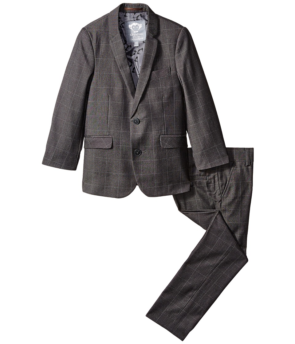 Appaman Kids - Mod Suit (Toddler/Little Kids/Big Kids) (Charcoal Windowpane) Boy's Suits Sets