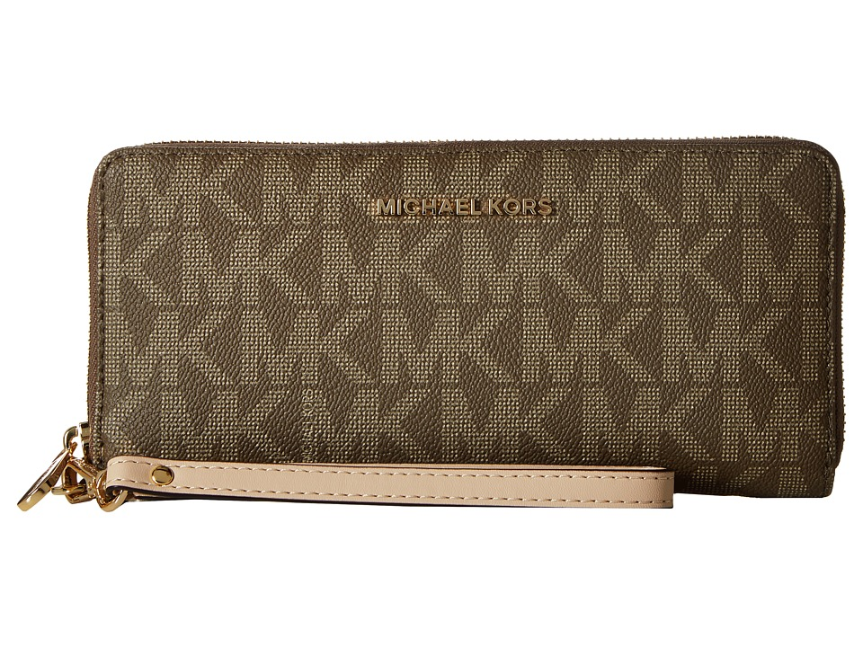 MICHAEL Michael Kors - Jet Set Item Travel Continental (Mocha) Continental Wallet