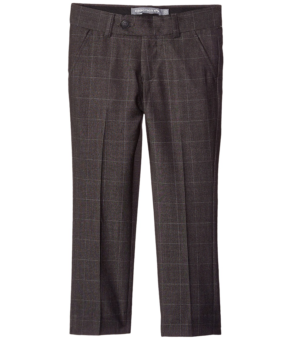 Appaman Kids - Mod Suit Pants (Toddler/Little Kids/Big Kids) (Charcoal Windowpane) Boy's Casual Pants