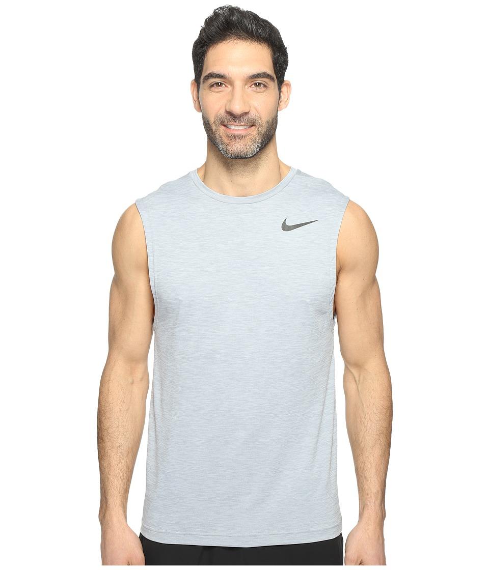 Nike - Dry Training Tank (Pure Platinum/Stealth/Black) Men's Sleeveless