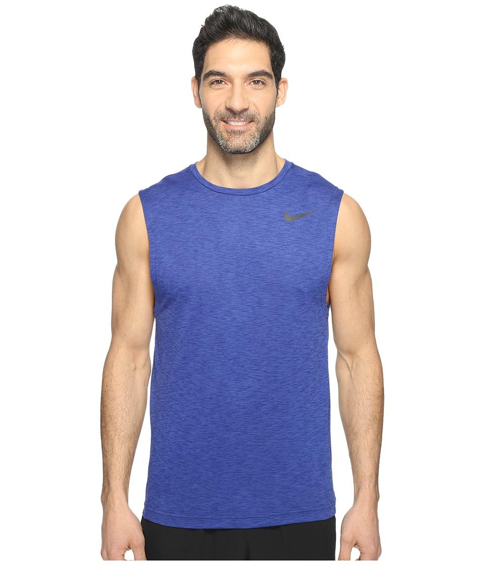 Nike - Dry Training Tank (Deep Night/Binary Blue/Black) Men's Sleeveless