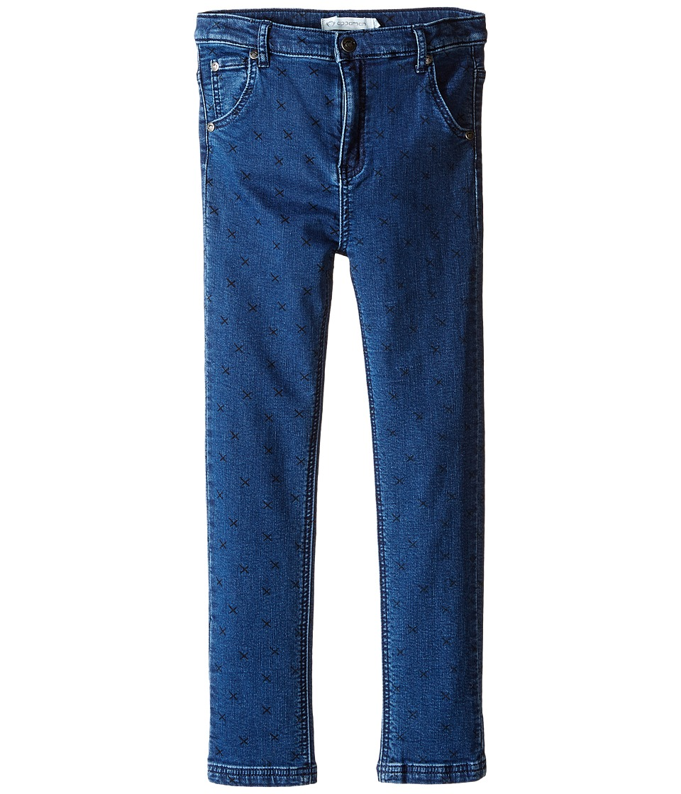 Appaman Kids - Finley Knit Denim Pants (Toddler/Little Kids/Big Kids) (Medium Blue) Girl's Jeans