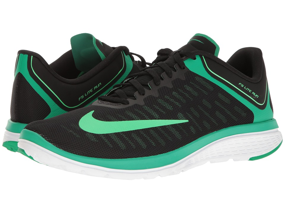 Nike - FS Lite Run 4 (Black/Electro Green/Stadium Green/White) Men's Running Shoes