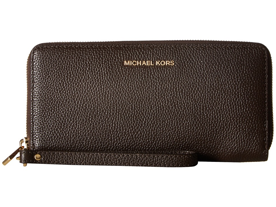 MICHAEL Michael Kors - Mercer Travel Continental (Coffee) Travel Pouch