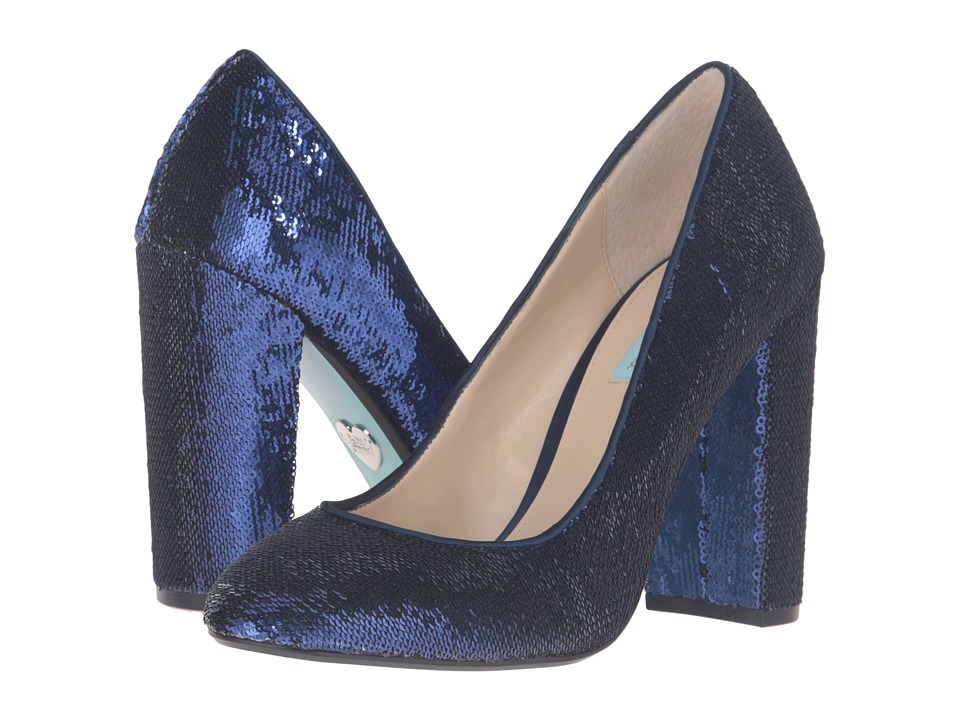 Blue by Betsey Johnson Lou (Midnight Blue) High Heels