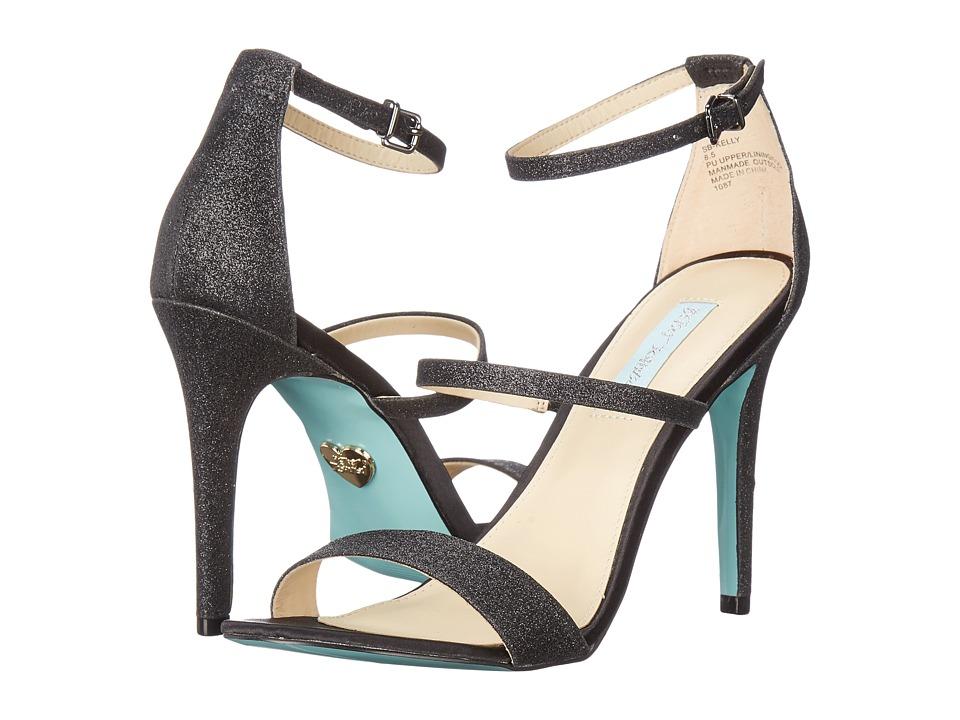 Blue by Betsey Johnson - Kelly (Black Glitter) Women's 1-2 inch heel Shoes