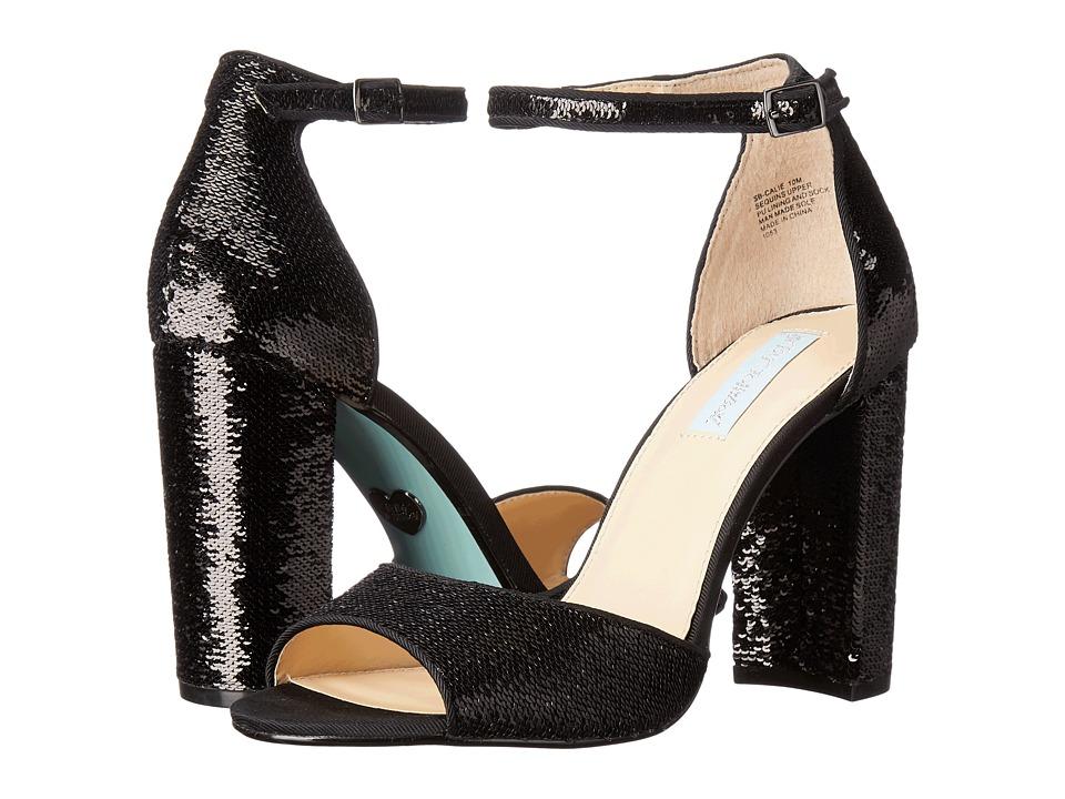 Blue by Betsey Johnson - Calie (Black) Women's 1-2 inch heel Shoes