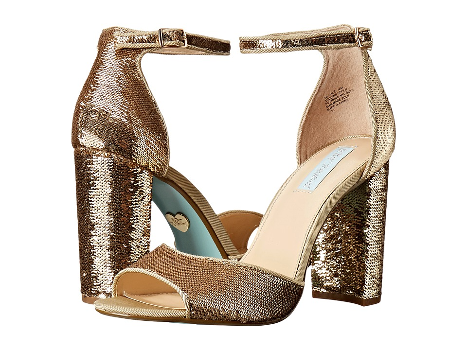 Blue by Betsey Johnson - Calie (Gold) Women's 1-2 inch heel Shoes