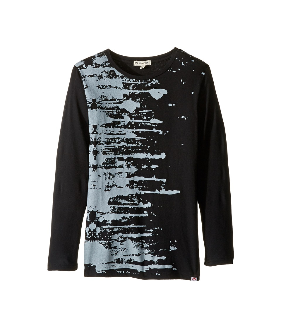Appaman Kids - Long Sleeve Paint Splatter Tee (Toddler/Little Kids/Big Kids) (Black) Boy's T Shirt