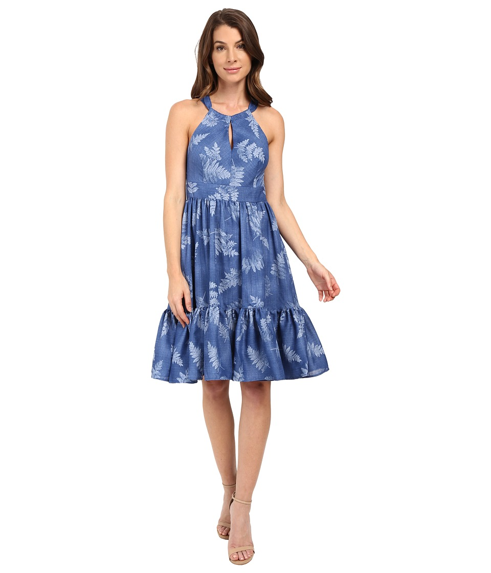 Eva by Eva Franco - Shoulder Tie Dress (Blue) Women's Dress
