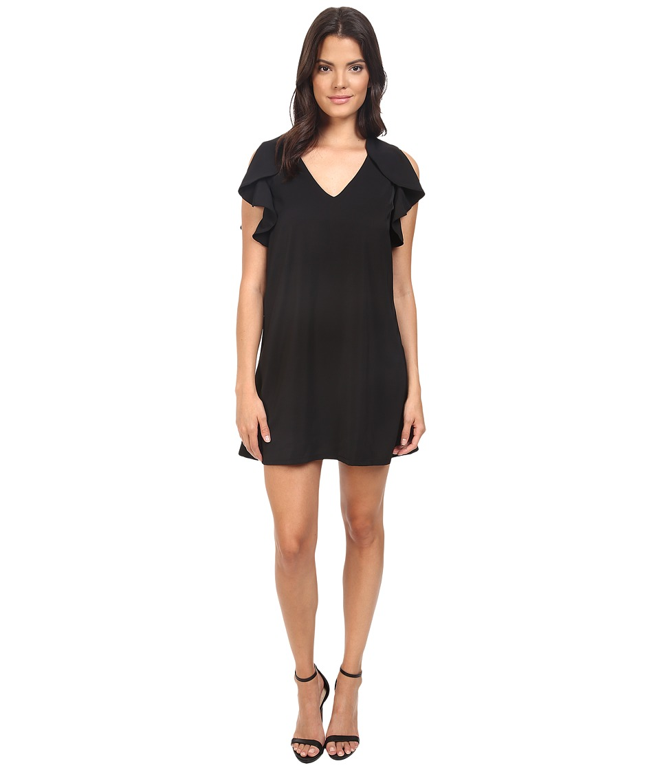 Eva by Eva Franco - Flouncy Sheath Dress (Black) Women's Dress