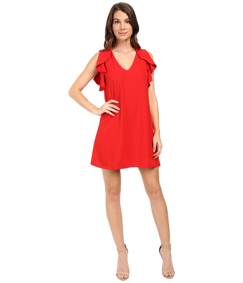 Eva by Eva Franco - Flouncy Sheath Dress (Red) Women's Dress