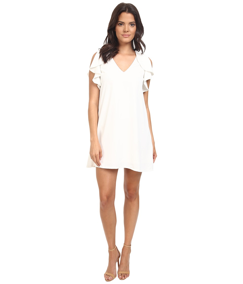 Eva by Eva Franco - Flouncy Sheath Dress (Ivory) Women's Dress