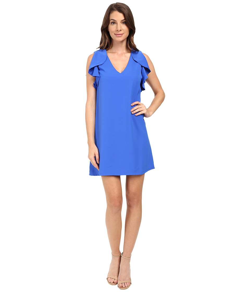 Eva by Eva Franco - Flouncy Sheath Dress (Cobalt) Women's Dress