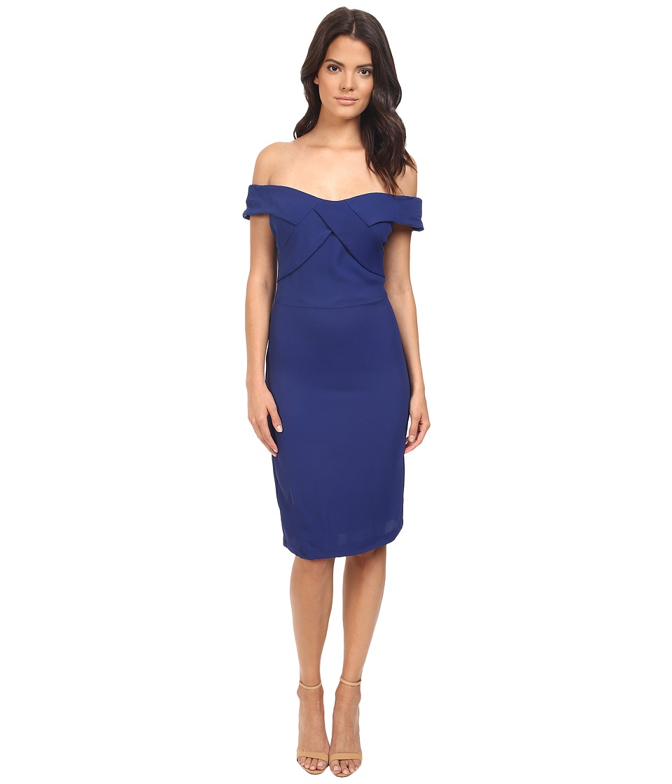 Eva by Eva Franco - Off the Shoulder Dress (Cobalt) Women's Dress