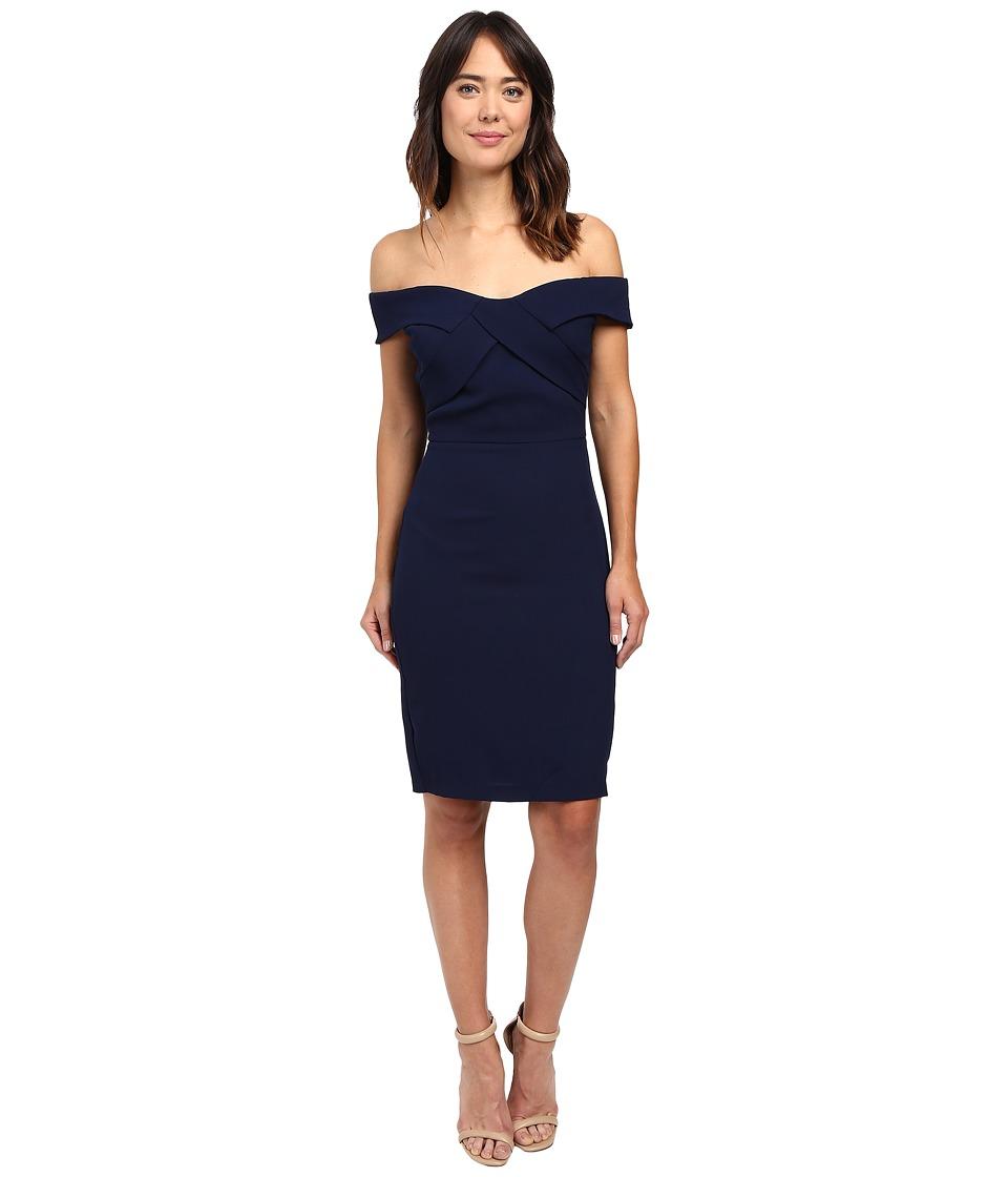 Eva by Eva Franco - Off the Shoulder Dress (Navy) Women's Dress
