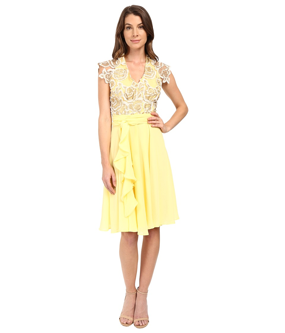 Eva by Eva Franco - V-Neck Dress (Yellow) Women's Dress