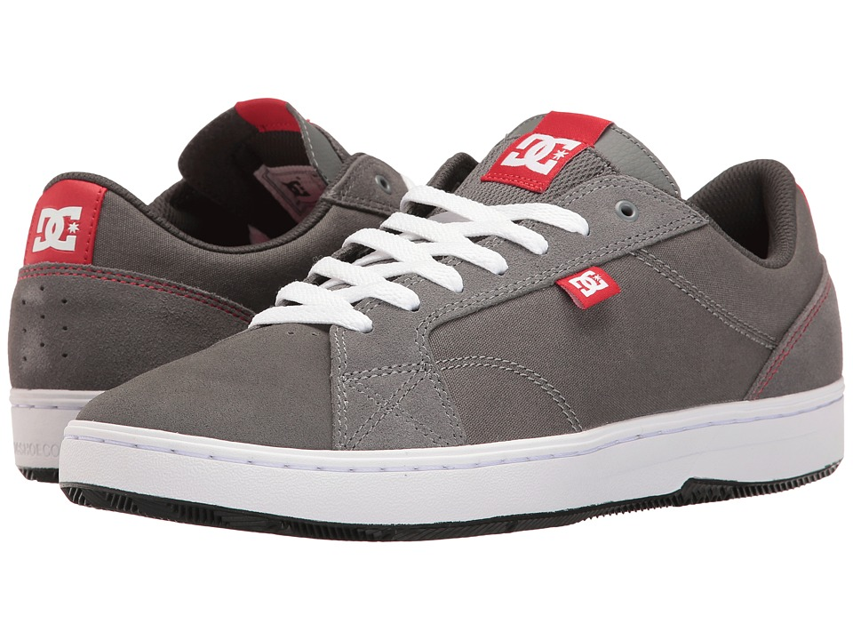 DC - Astor (Grey/Red/White) Men's Skate Shoes