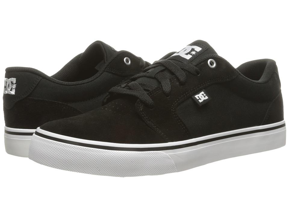 DC - Anvil (Black/White/Black) Men's Skate Shoes