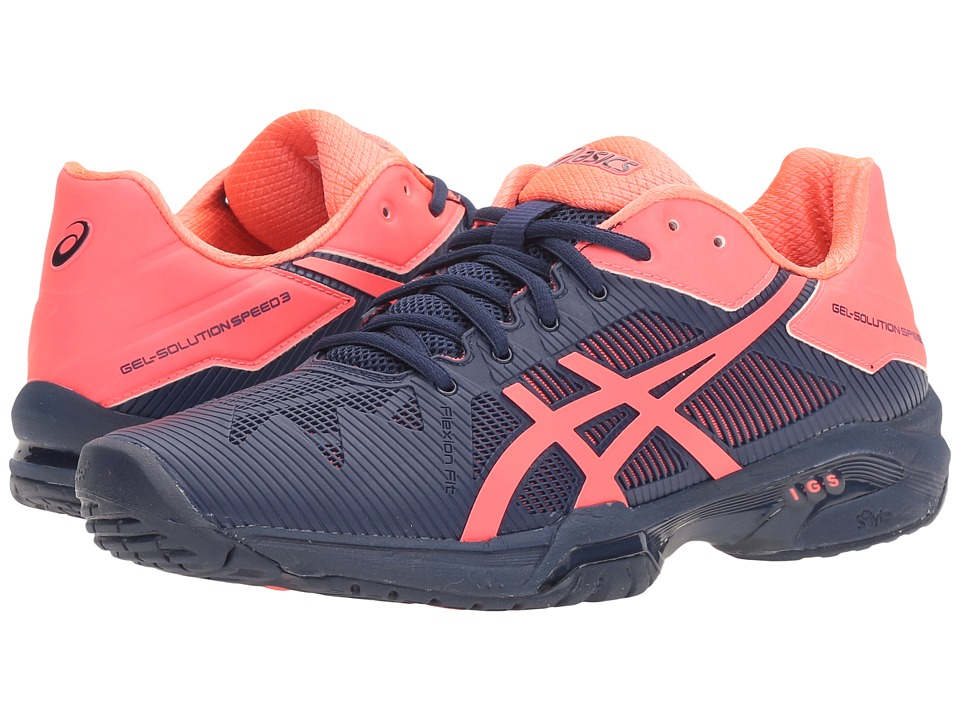 ASICS - Gel-Solution(r) Speed 3 (Indigo Blue/Diva Pink) Women's Tennis Shoes