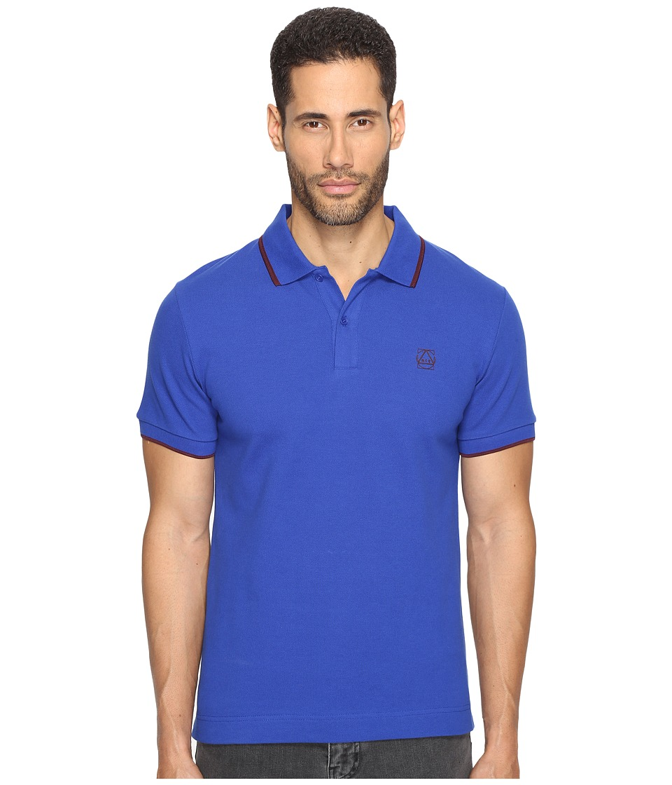 McQ - McQ Logo Polo (Shock Blue) Men's Short Sleeve Pullover