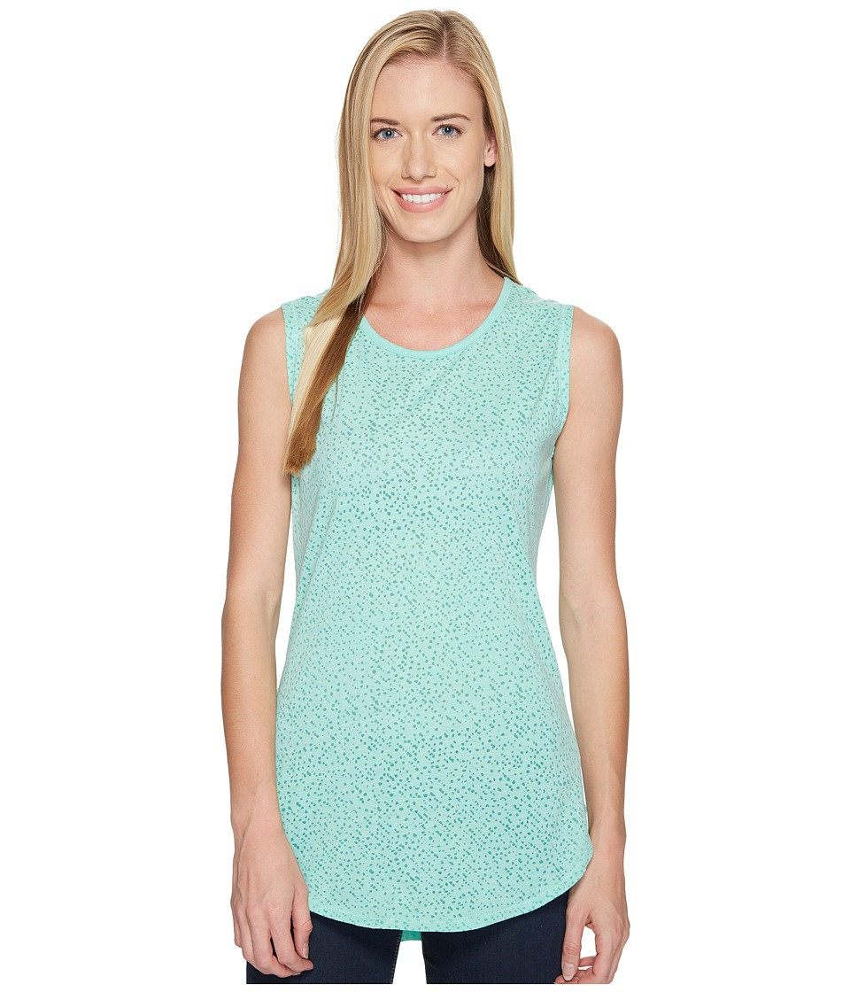 Carve Designs - Cannon Sleeveless Tee (Mint Stargazer) Women's Sleeveless