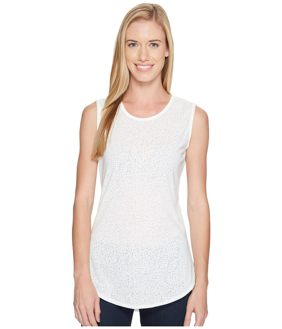 Carve Designs - Cannon Sleeveless Tee (White Stargazer) Women's Sleeveless
