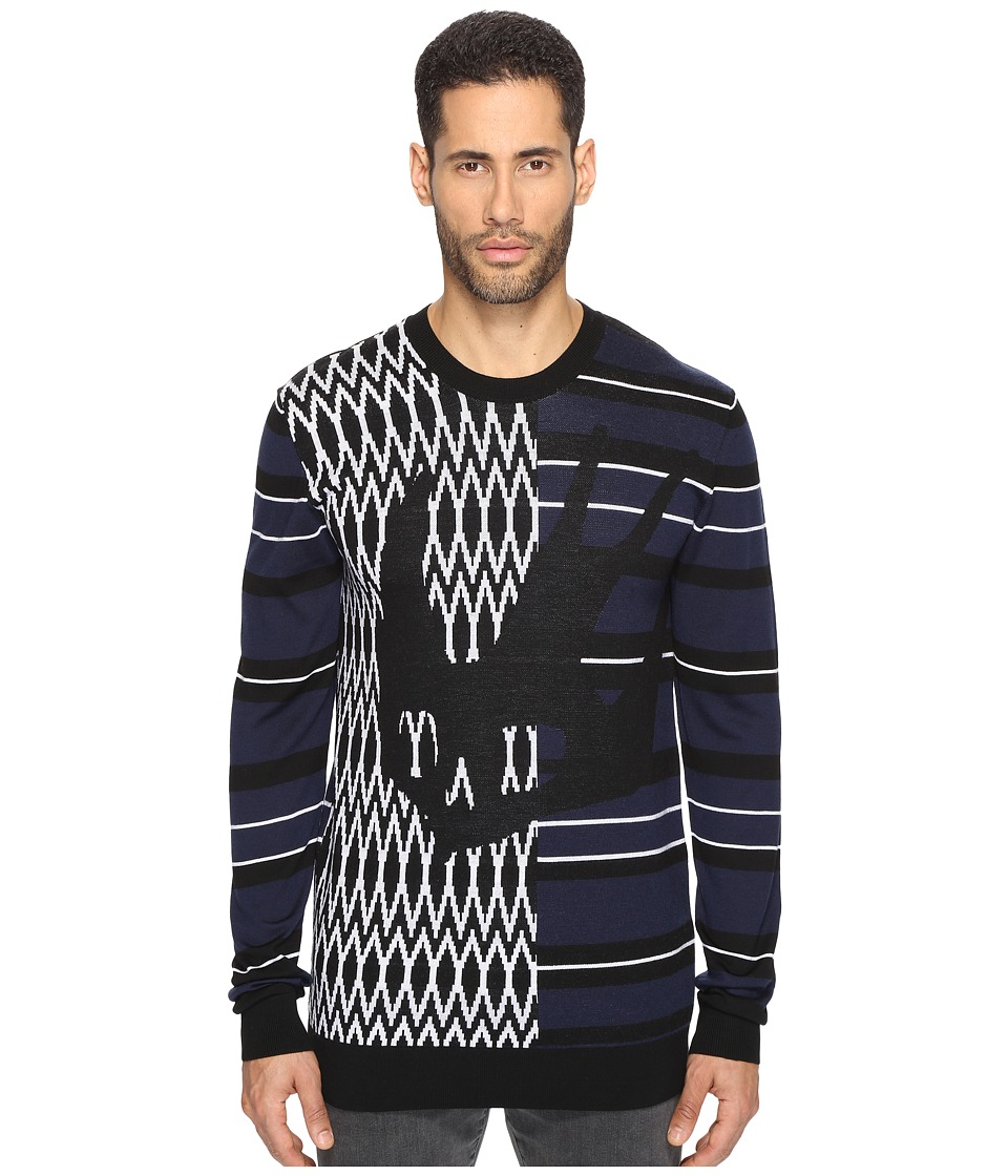 McQ - El Swallow Crew Neck Sweater (Black Swallow) Men's Sweater