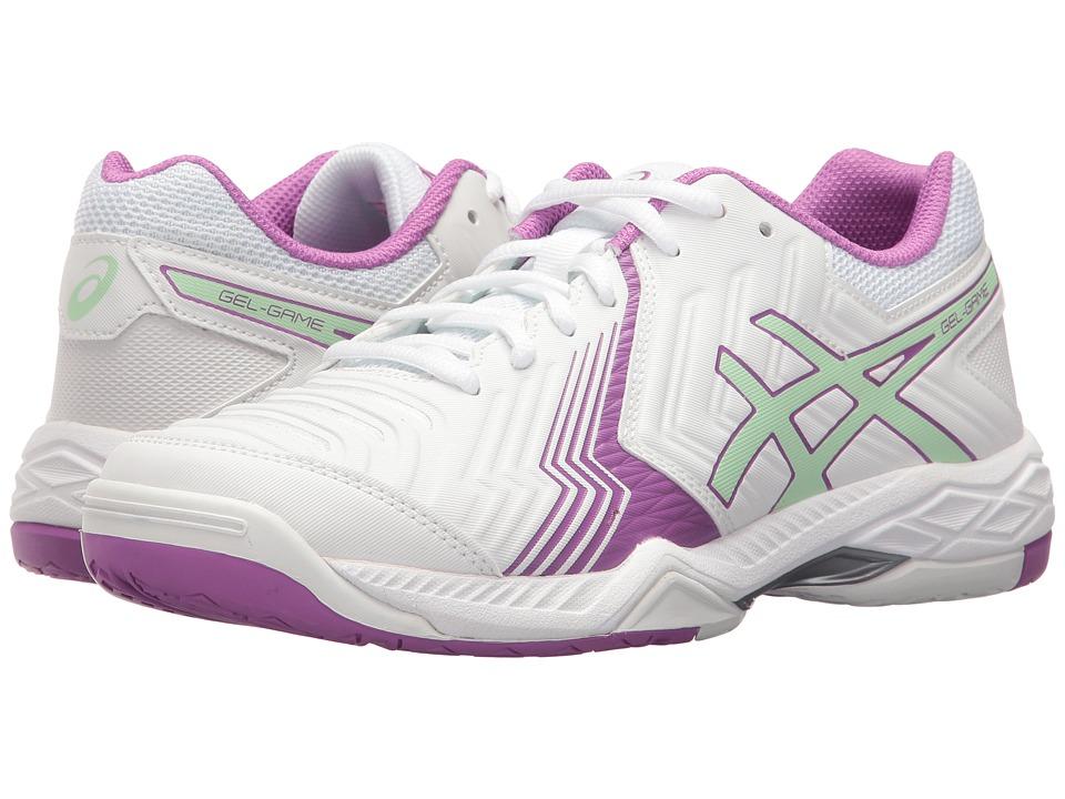 ASICS - Gel-Game 6 (White/Paradise Green/Campanula) Women's Tennis Shoes