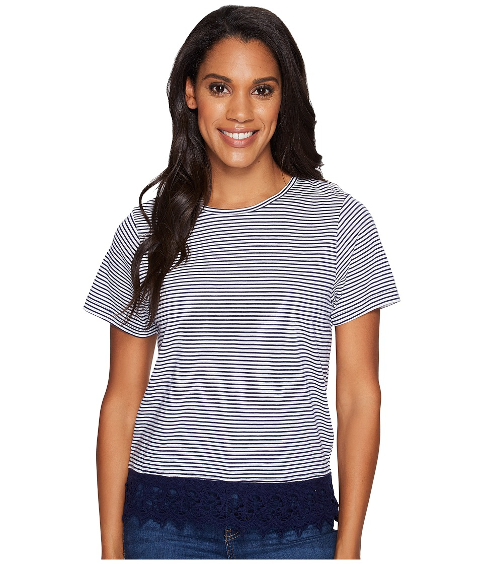 Carve Designs - Jaden Shirt (Anchor Caribbean Stripe) Women's Clothing