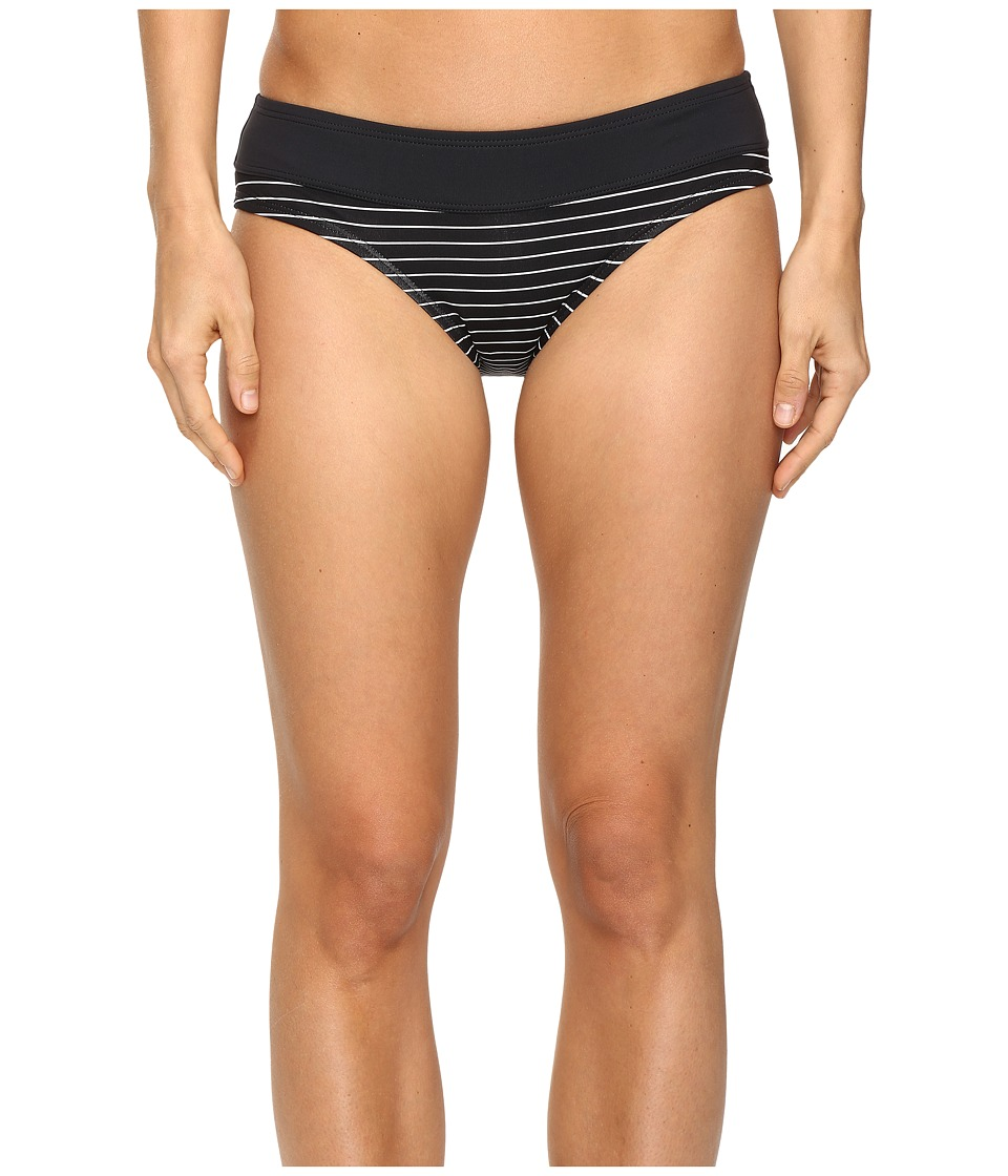 Carve Designs - Catalina Bottom (Black Aruba Stripe) Women's Swimwear
