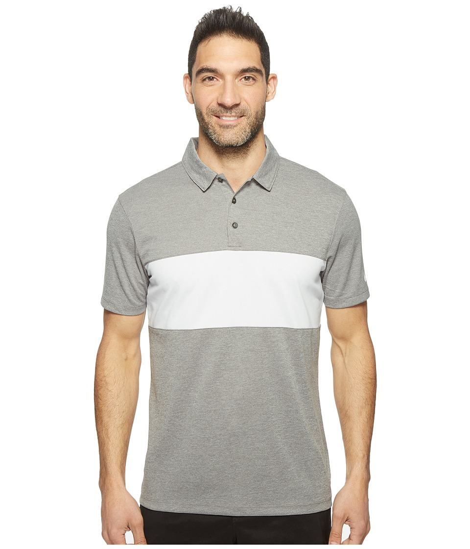 Nike Golf - Breathe Color Block Polo (Carbon Heather/Birch Heather/White) Men's Short Sleeve Pullover