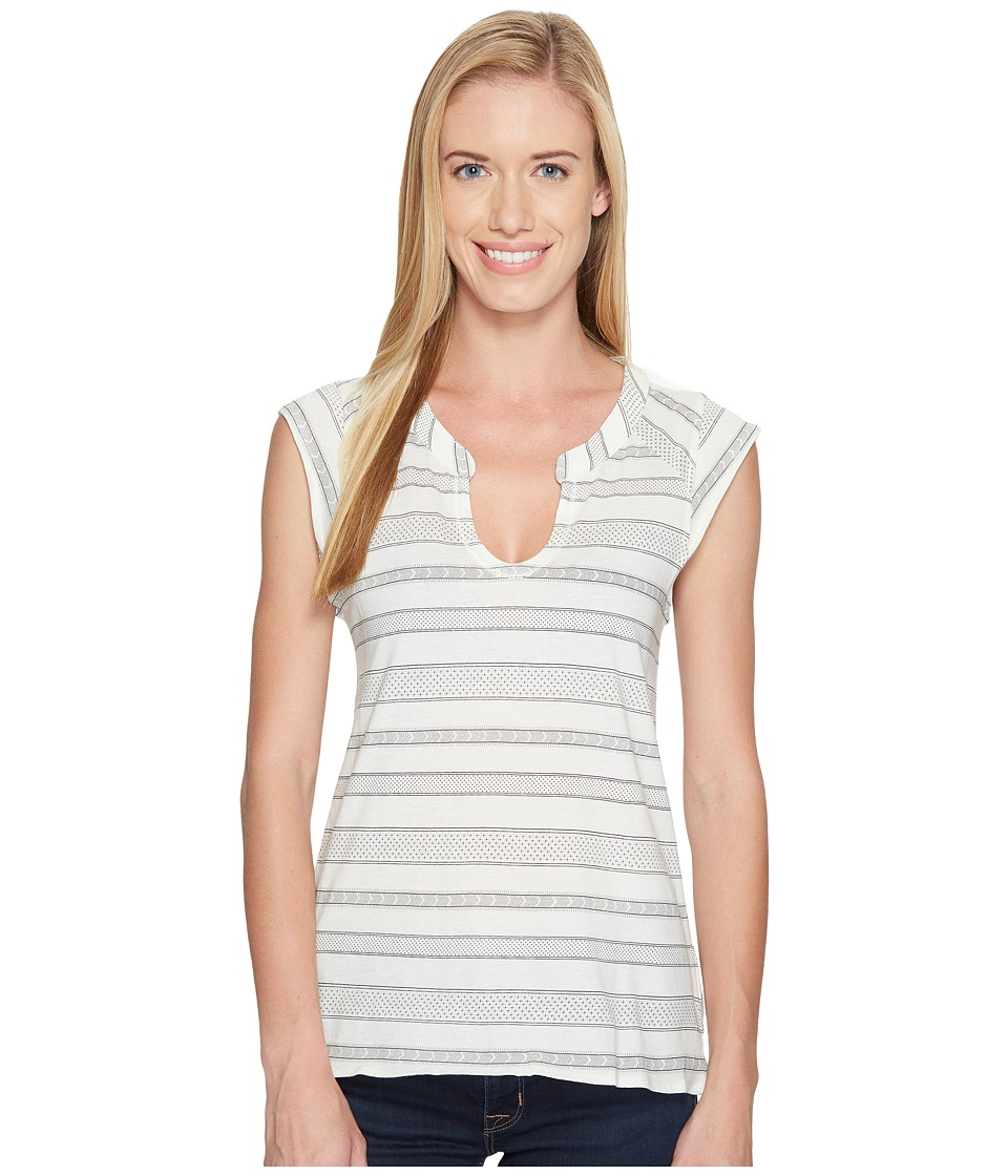 Carve Designs - Serpico Henley (Ivory Atlas Stripe) Women's Clothing