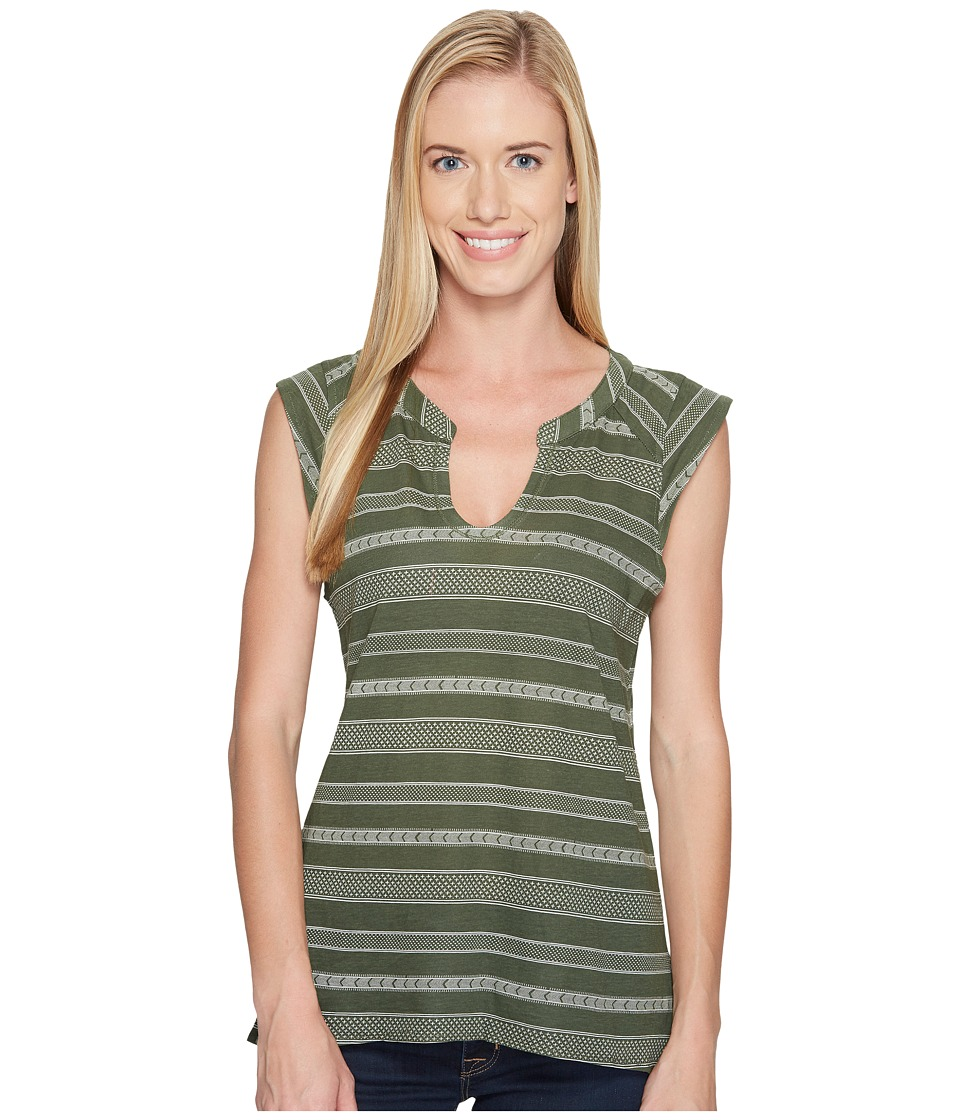 Carve Designs - Serpico Henley (Reed Atlas Stripe) Women's Clothing