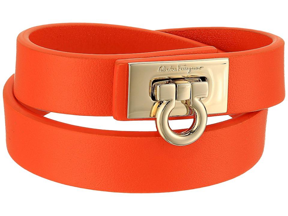 Salvatore Ferragamo - 345921 Gancet 2G Bracelet (Punch/Oro Chiaro) Bracelet