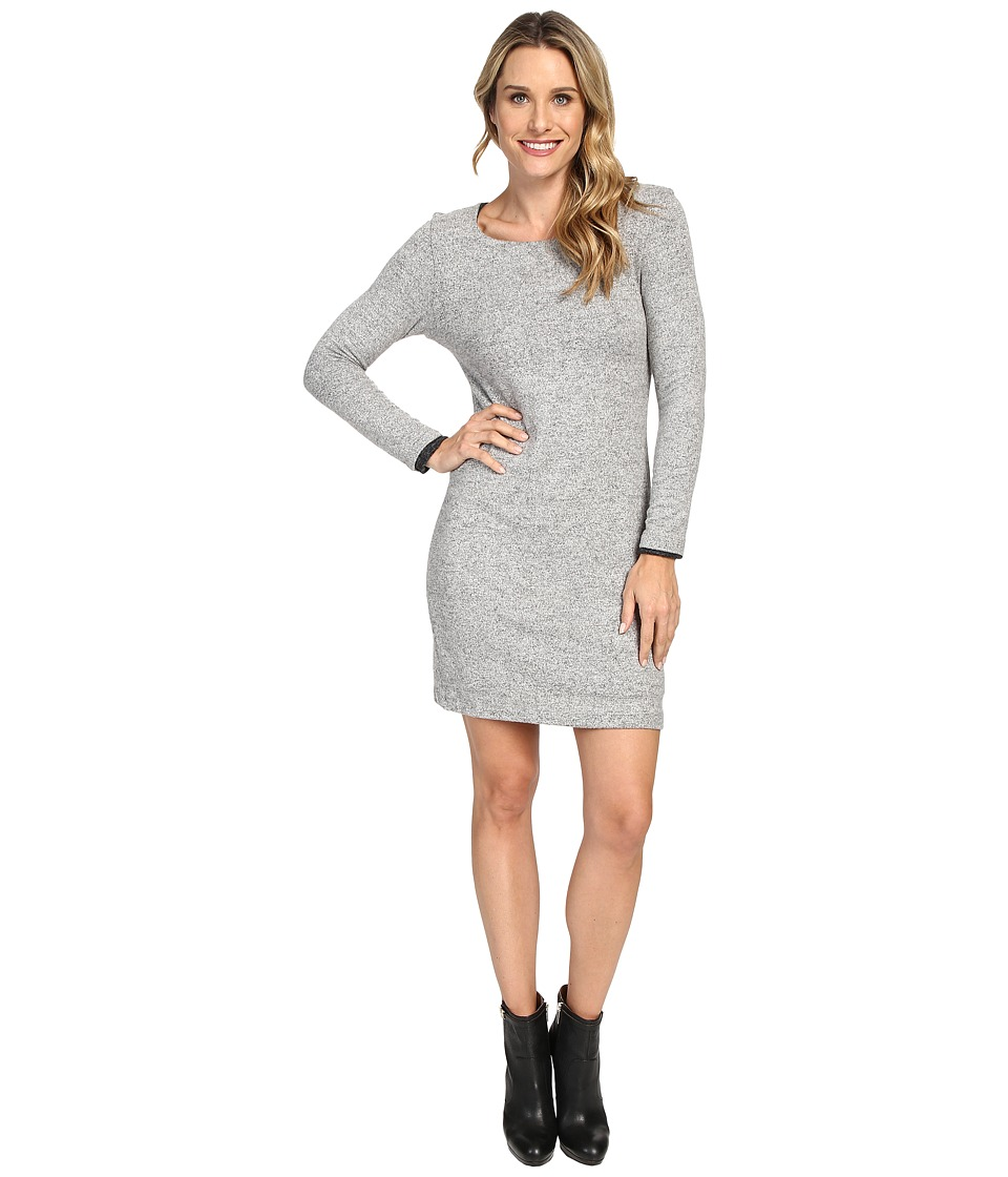 Nally & Millie - Long Sleeve Brushed Sweater Reversible Dress (Heather Grey) Women's Dress