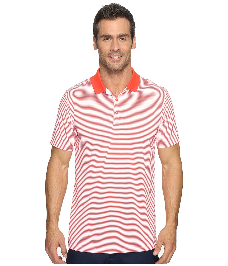 Nike Golf - Victory Mini Stripe Polo (Max Orange/White/White) Men's Short Sleeve Pullover