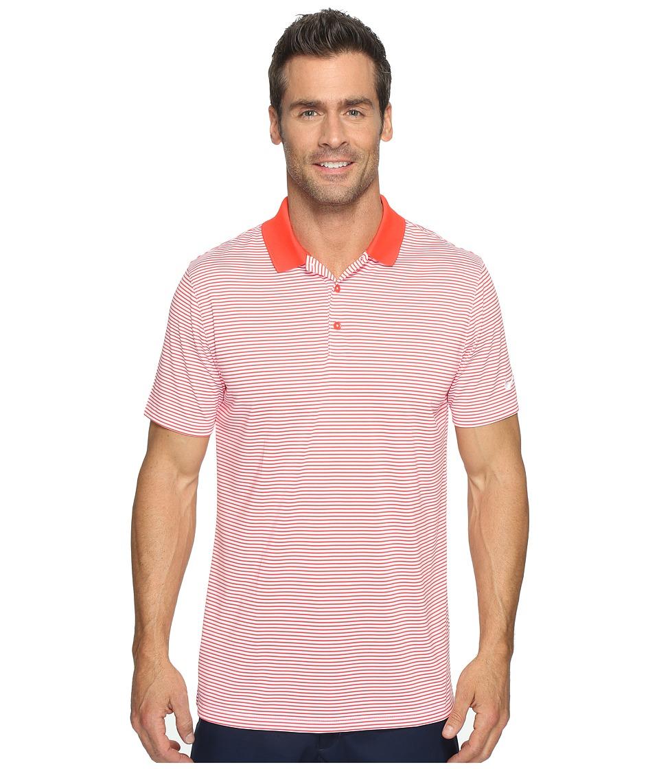 Nike Golf - Victory Mini Stripe Polo (Max Orange/White/White) Men's Short Sleeve Pullover