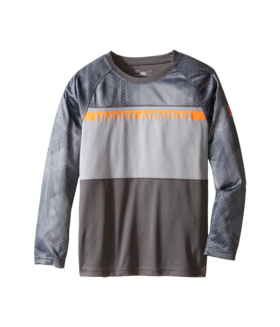 Under Armour Kids - Printed Long Sleeve (Little Kids/Big Kids) (Graphite) Boy's Long Sleeve Pullover