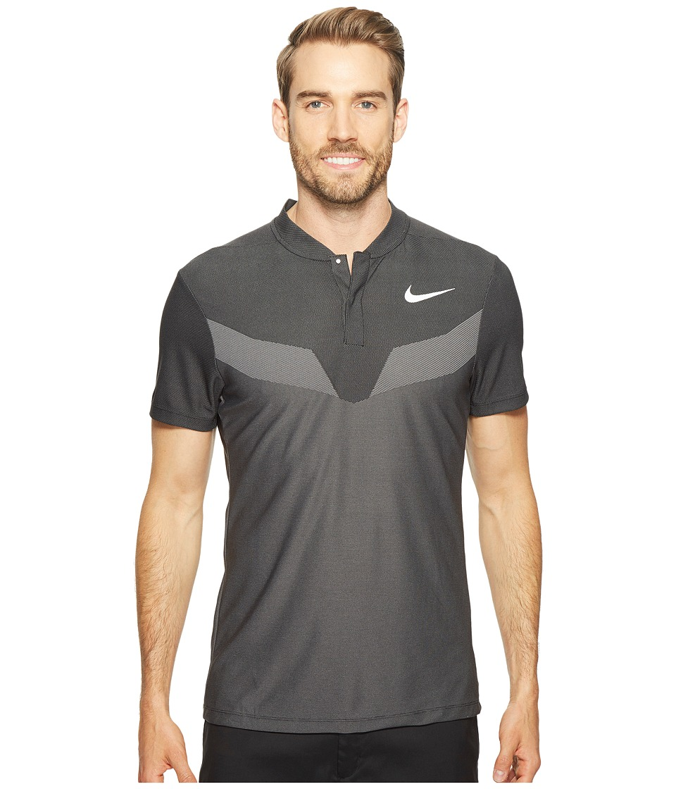 Nike Golf - Zonal Cooling MM Fly Blade (Black/Reflective Silver) Men's Short Sleeve Pullover
