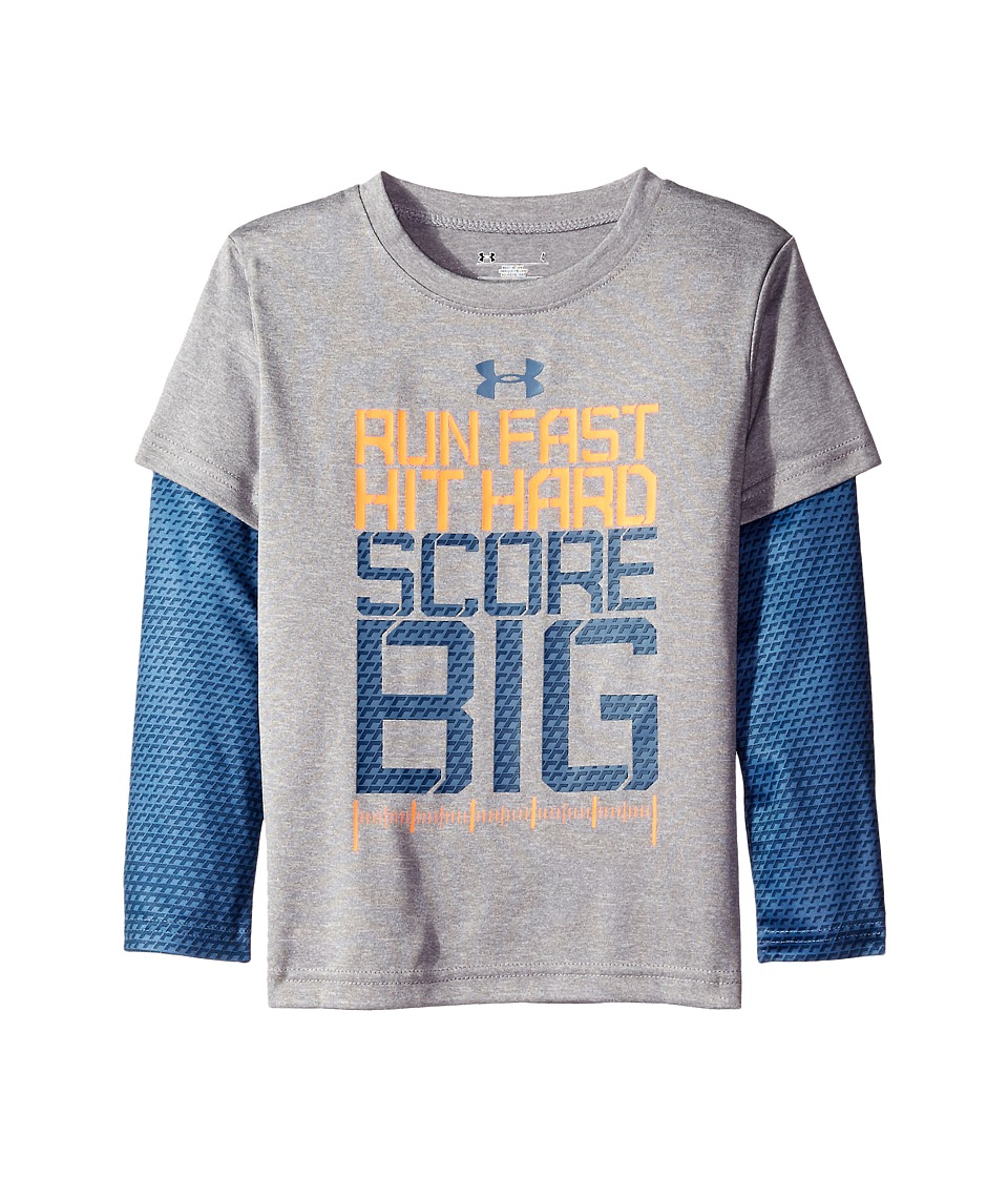 Under Armour Kids - Run Fast Game Day Slider (Little Kids/Big Kids) (True Grey Heather) Boy's Clothing