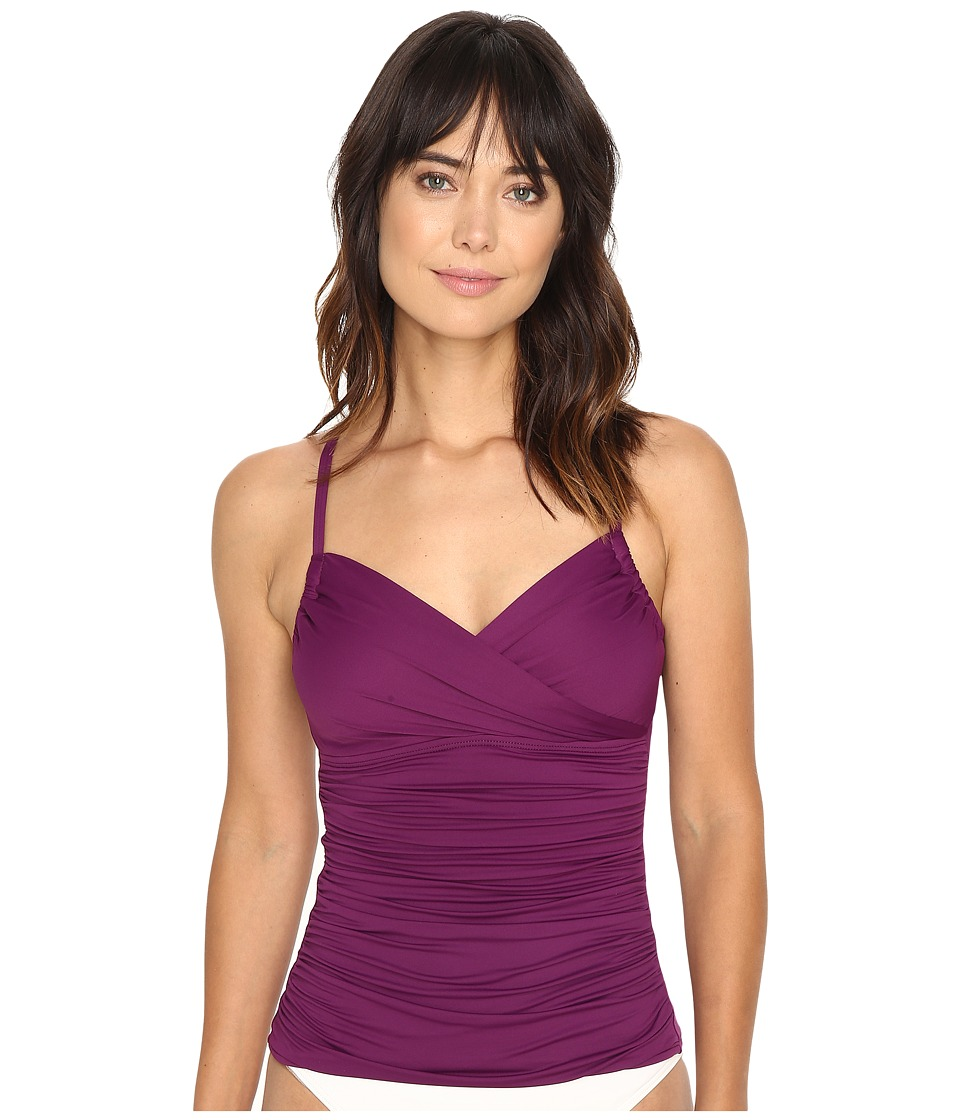 La Blanca Island Goddess Convertible A-D Tankini Top (Cranberry) Women