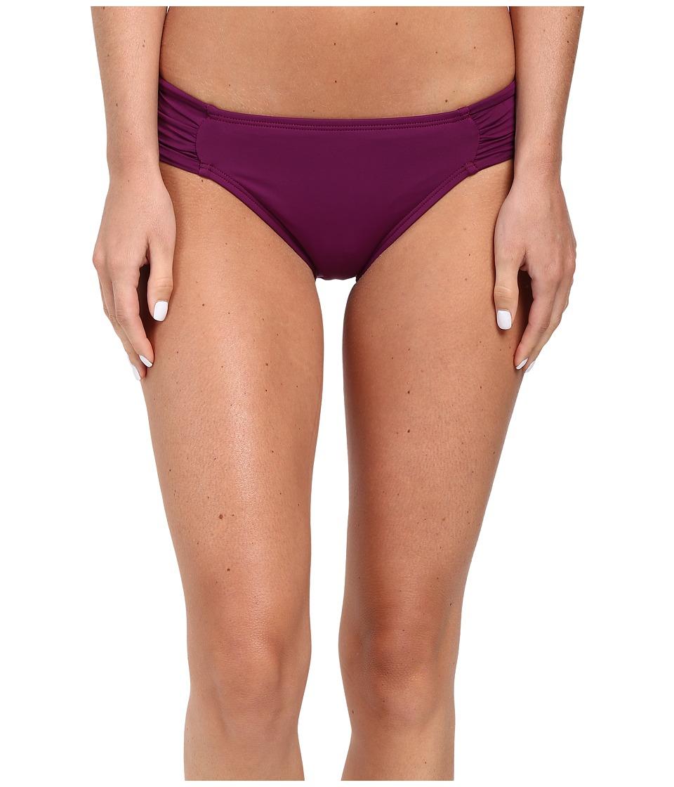 La Blanca - Island Goddess Side Shirred Hipster Bottom (Cranberry) Women's Swimwear